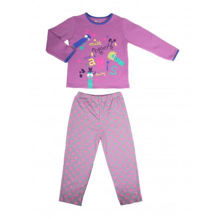 Pyjama fille manches longues Little Town