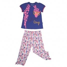 Pyjama fille manches courtes Crazy Gigi