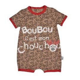 Barboteuse bébé garçon taupe Boubou