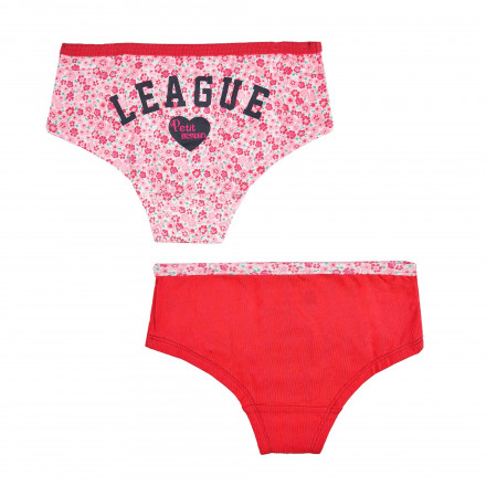 Lot de 2 shorty fille Souricette