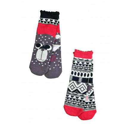 Lot de 2 paires de chaussettes fille Nomaya