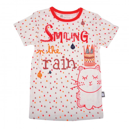 Tee shirt fille manches courtes Rainy day