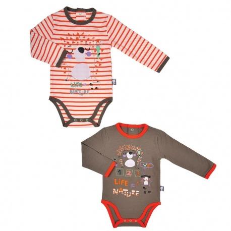 Lot de 2 bodies bébé garçon manches longues Kipic