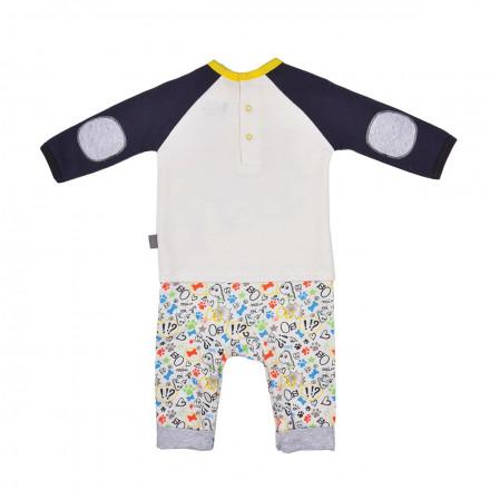 Combinaison bébé garçon manches longues Domino