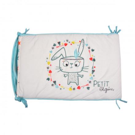 Tour de lit bébé garçon Little Bunny