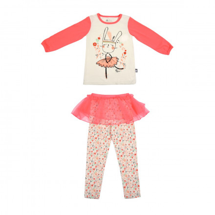 Pyjama fille manches longues Petite Plume