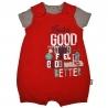 Barboteuse + t-shirt bébé garçon rouge Rebel Team