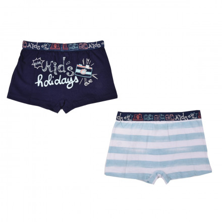 Lot de 2 boxers garçon Marin Kid