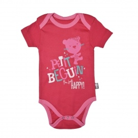 Body bébé fille rouge framboise Happiness
