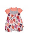 Barboteuse + t-shirt bébé fille orange Pépin