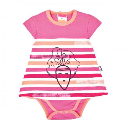 Body tunique bébé fille Petite Carotte
