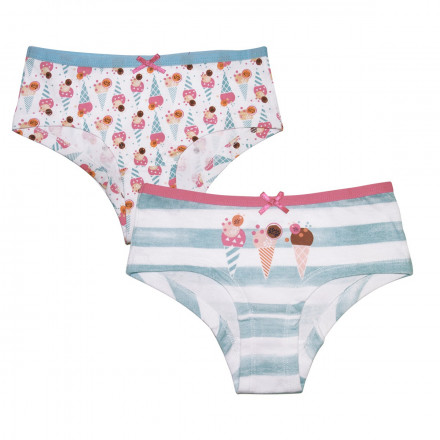 Lot de 2 boxers fille Ice Cream