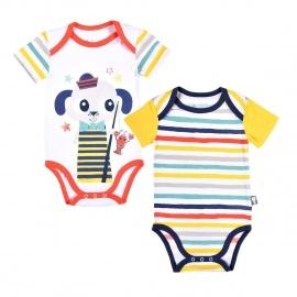 Lot de 2 bodies manches courtes bébé garçon Petit Pêcheur