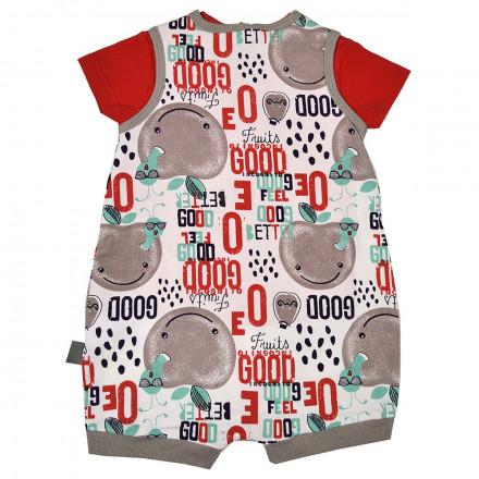 Barboteuse + t-shirt bébé garçon écrue Rebel Team