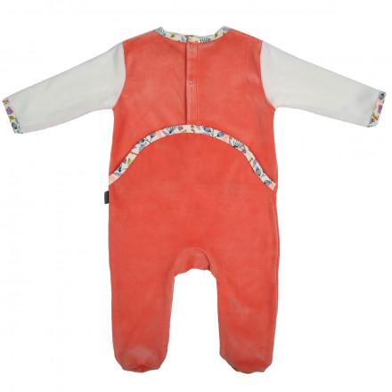 Grenouillère bébé fille orange Papill