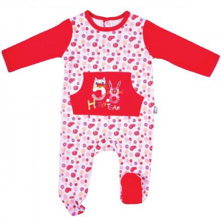 Pyjama bébé fille double épaisseur framboise Happy Girl