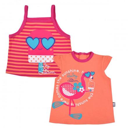Top + Tee shirt bébé fille Baby Ice Cream