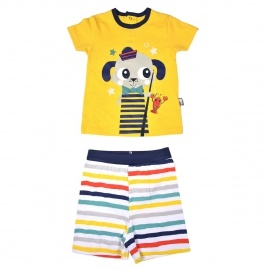 Ensemble t-shirt + short bébé garçon Petit Pêcheur