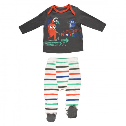 Ensemble bébé garçon t-shirt + pantalon Mega Monster