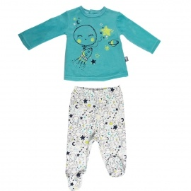 Ensemble bébé garçon t-shirt + pantalon Little Moon