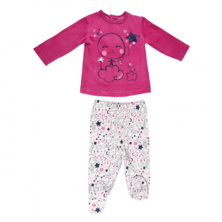 Ensemble bébé fille tunique + pantalon Poetic Moon