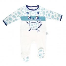Grenouillère bébé garçon bleu Ronron