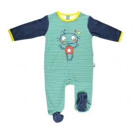 Grenouillère bébé garçon vert Illico
