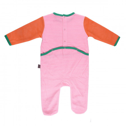 Grenouillère bébé fille rose Illico
