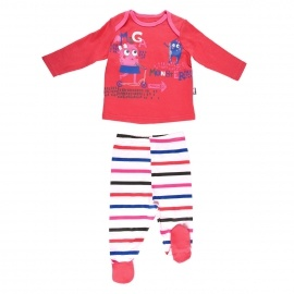 Ensemble bébé fille t-shirt + pantalon Cute Monster