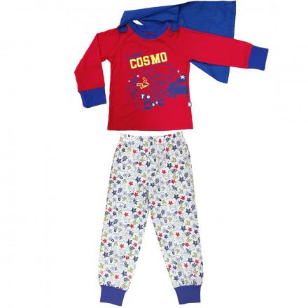 Pyjama garçon manches longues Super Cosmo + cape amovible