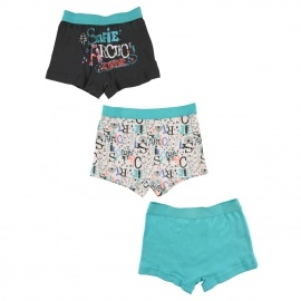 Lot de 3 boxers garçon Selfie Artic boy