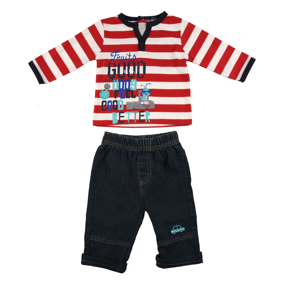 6bba58eca178f Ensemble bébé garçon Tshirt + Pantalon Théo - PETIT BEGUIN 3 mois