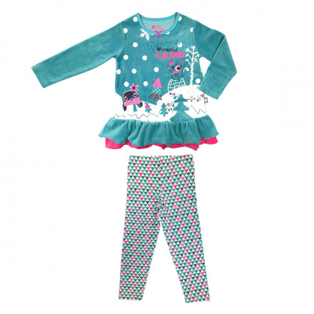 Pyjama fille manches longues Iceland