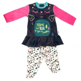 Ensemble bébé fille  t-shirt + pantalon Wish