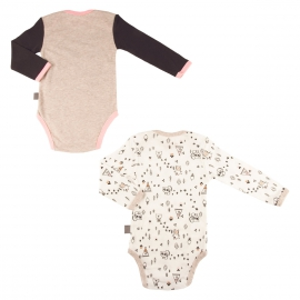 Lot de 2 bodies bébé fille manches longues Forest Friend