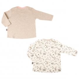 Lot de 2 t-shirts manches longues bébé fille Forest Friend
