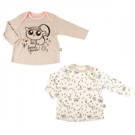 Lot de 2 t-shirts manches longues bébé fille Forest Friend