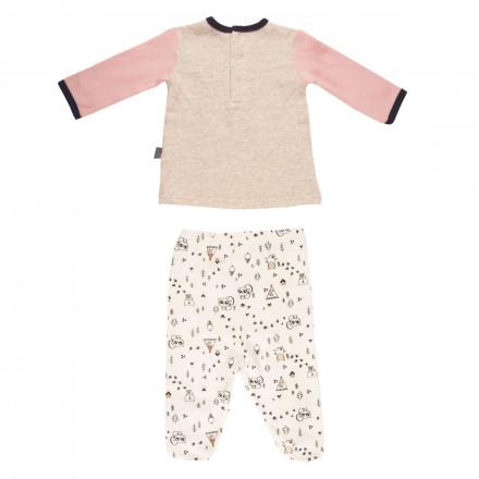 Ensemble bébé fille t-shirt + pantalon Forest Friend