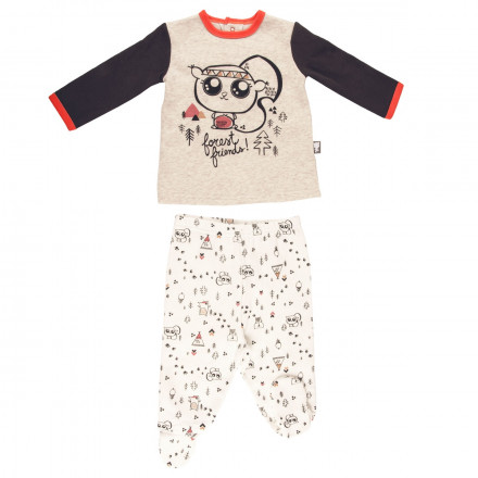 Ensemble bébé garçon t-shirt + pantalon Forest Friend