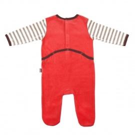 Grenouillère bébé garçon rouge Riton