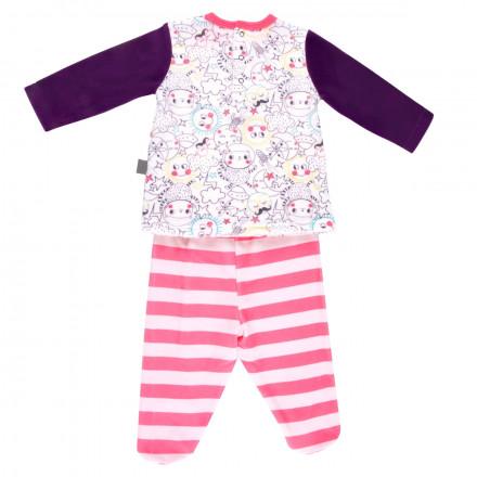 Ensemble bébé fille  t-shirt + pantalon Rêveuse