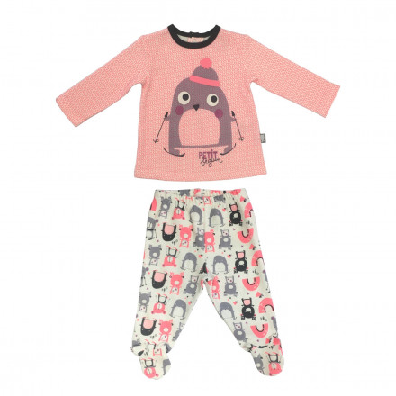 Ensemble bébé fille  t-shirt + pantalon Artic Bird