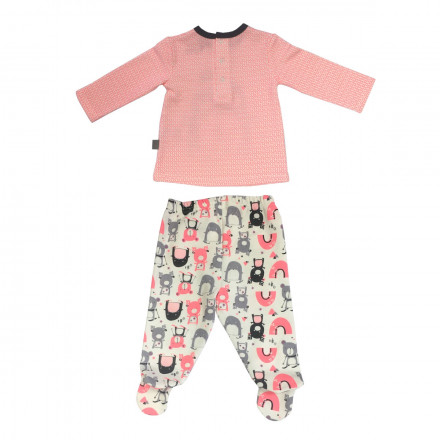 Ensemble bébé fille  t-shirt + pantalon Artic Bird