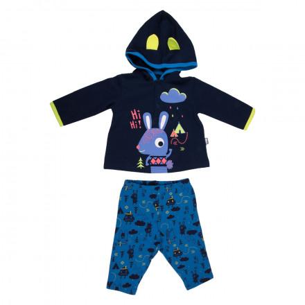 Ensemble bébé garçon t-shirt + pantalon Funny Rabbit