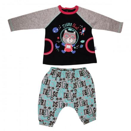 Ensemble bébé garçon t-shirt + sarouel Cosmochat