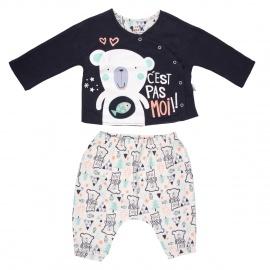 Ensemble bébé garçon gilet double épaisseur + sarouel Baby Bear