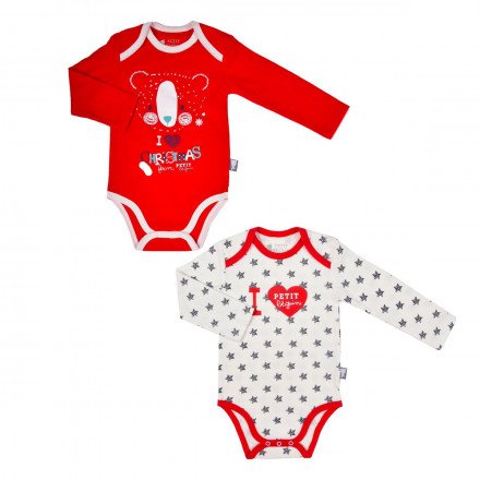 Lot de 2 bodies bébé mixte  Love christmas