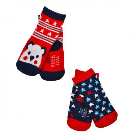 Lot de 2 paires de chaussettes bébé Love christmas