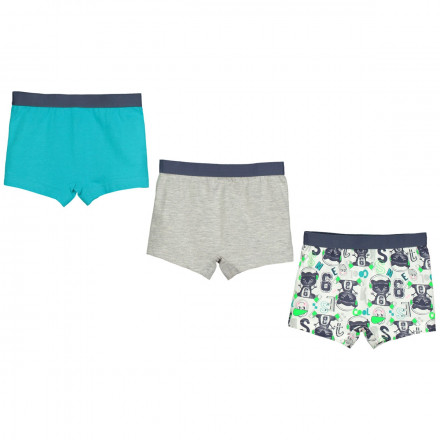 Lot de 3 boxers garçon No stress