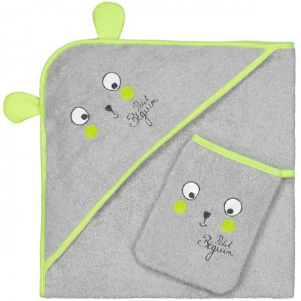 Cape et gant de bain bébé garçon Petite Forêt